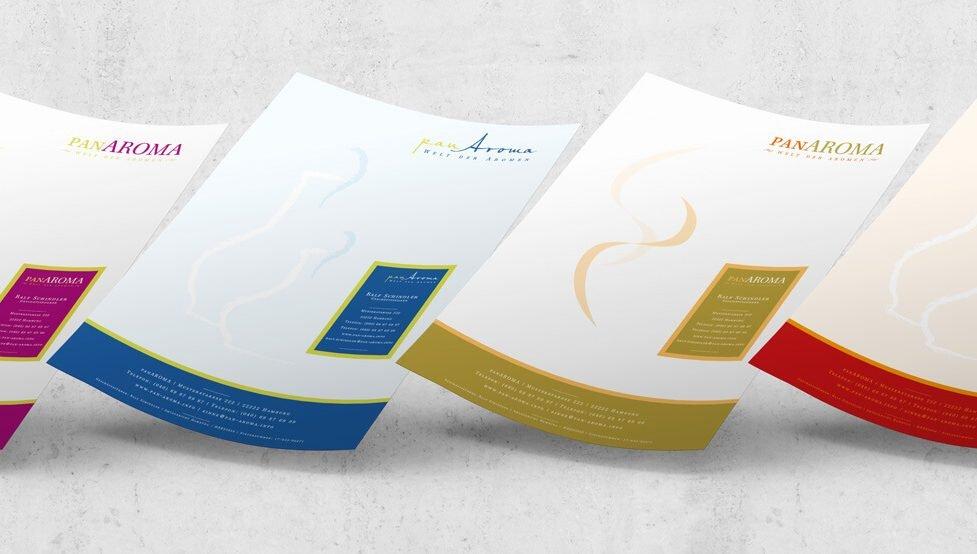 4 PanAroma Briefpapier-Vorentwürfe