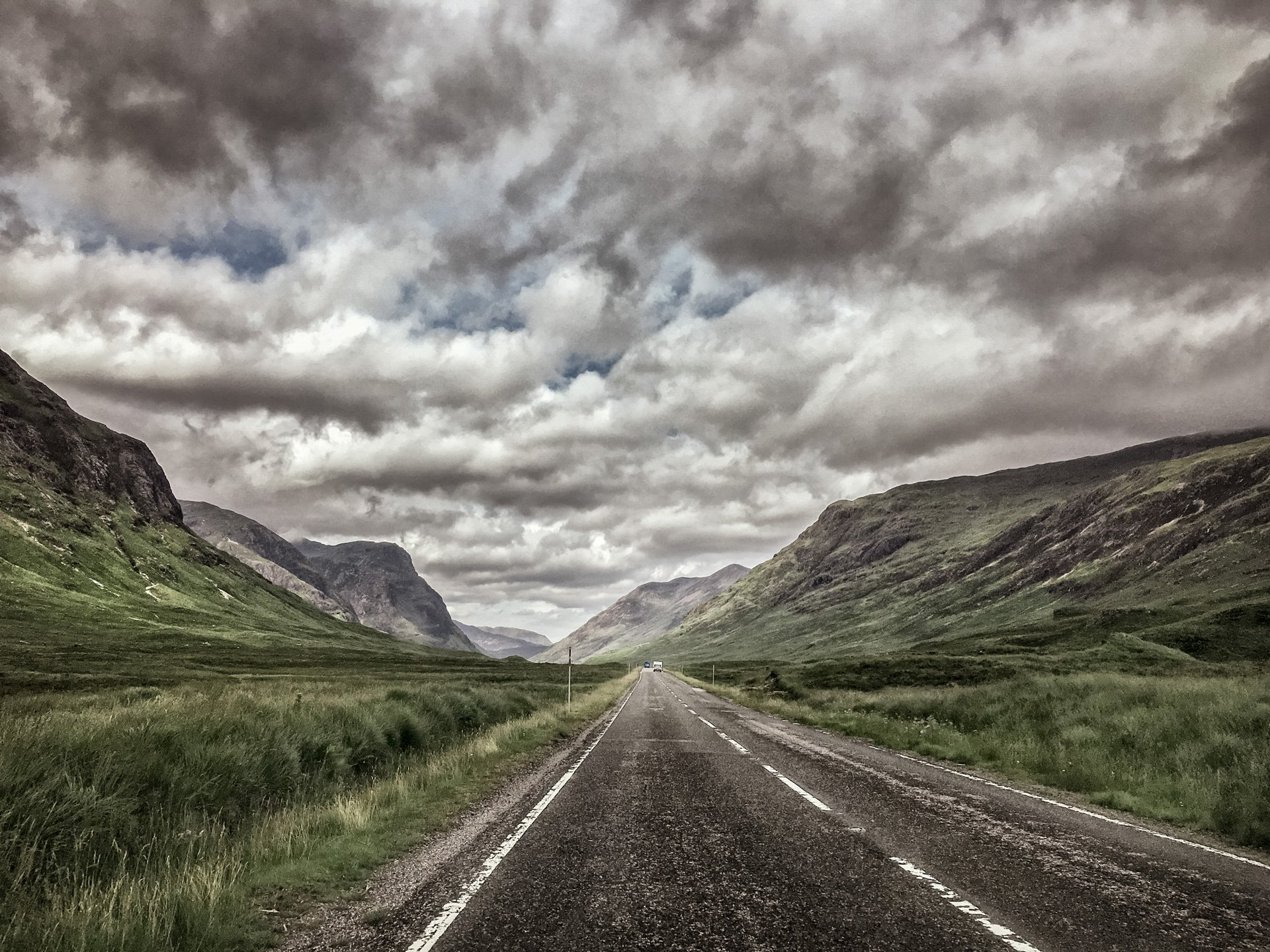 Straße durch Glencoe